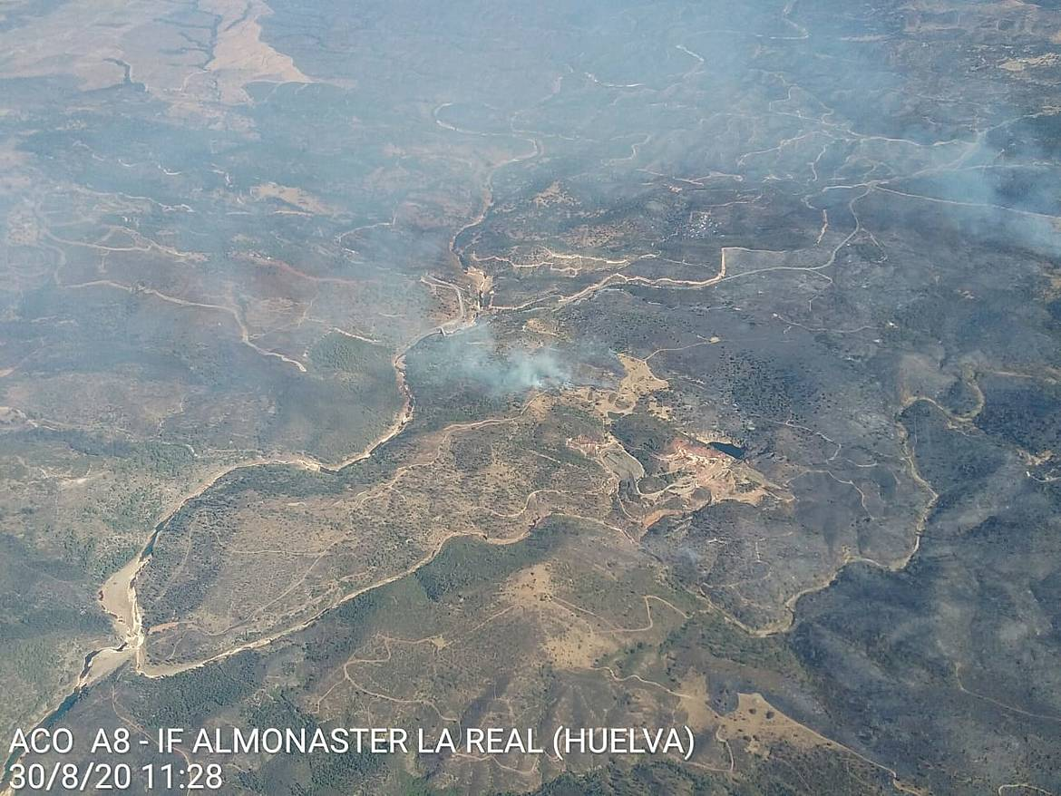 Incendio forestal Almonaster la Real, Huelva